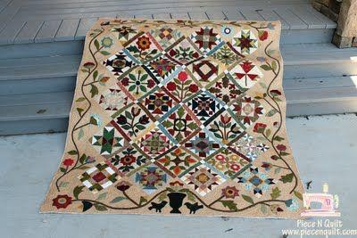 sampler quilt - piece n quilt: Friends Sherron, A Sampler, Quilts Sampler, Beautiful Quilts, Applique Quilts, Free Mot Quilts, Gorgeous Quilts, Sampler Quilts, Art Quilts