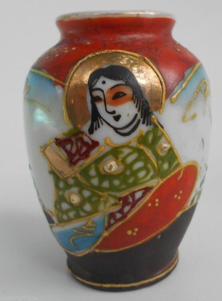 Occupied Japan Miniature Hand Painted Porcelain Vase