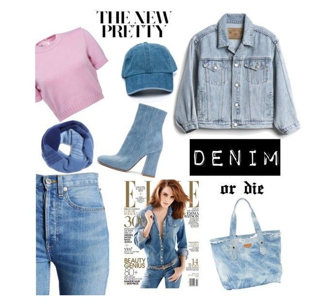Denim or die! by jessann-harrold on Polyvore featuring polyvore fashion style Gap RE/DONE Gianvito Rossi Halogen clothing