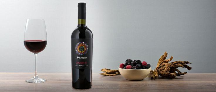 Andros. Vino rosso ottenuto da uve Negro amaro, di colore rosso intenso, profumo fruttato, con note di confettura di mora e sentore di tabacco, sapore secco. http://hitany.it/it/prodotti/vino/andros-negroamaro-igt-29