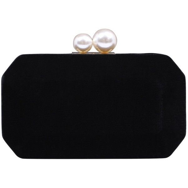 Carvela Gloat Velvet Clutch Bag (£47) ❤ liked on Polyvore featuring bags, handbags, clutches, evening handbags clutches, faux-leather handbags, chain-strap handbags, velvet purse and chain strap handbags