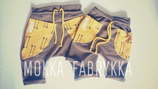 Shorts for kids, baggy and comfy by Mokka Fabrykka