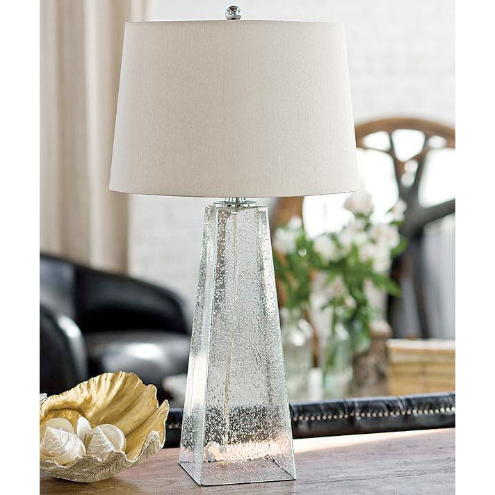 Regina Andrew Lighting Ice Cube Glass Table Lamp Clear Bubble Glass 27 1/2  High