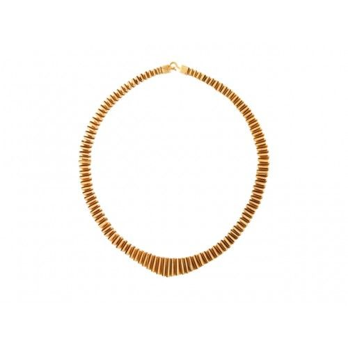 """""""Zic-Zac"""" Necklace: silver gold plated"""