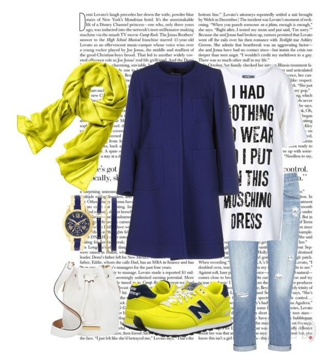 """#mydailyfashion#sultankurtay"" by sultankurtay on Polyvore featuring AG Adriano Goldschmied, Moschino, Tara Jarmon, Reed Krakoff, Marc by Marc Jacobs and New Balance Classics"