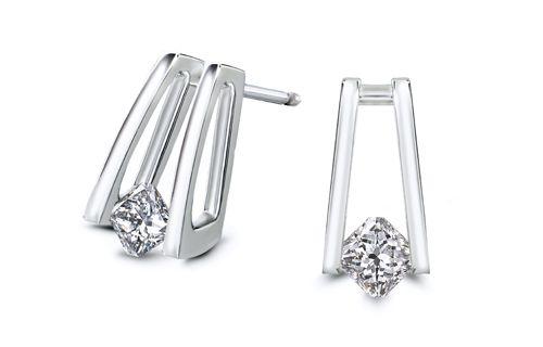 My Girl Millennium diamond earrings in white gold