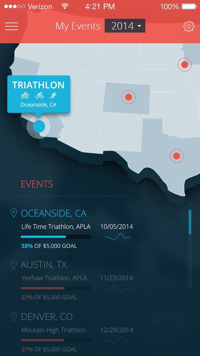 Sponsrs: My Events Map / List - by Anke Mackenthun | #ui #ios