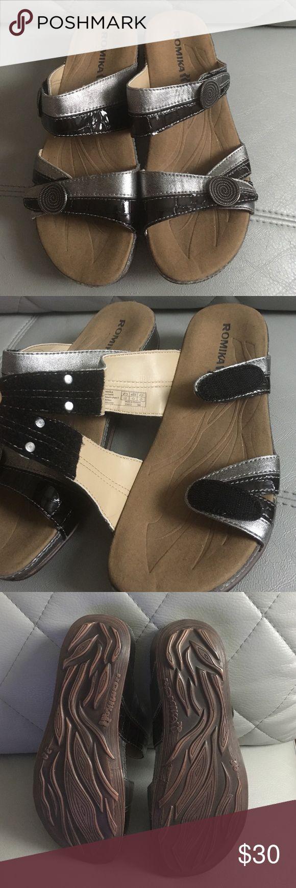 Romika Sandals NWOT. Adjustable Velcro straps. Romika Shoes Sandals