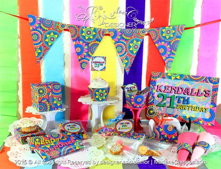 30 best Mandalas theme party images on Pinterest Mandalas Food