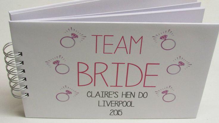 Personalised Hen Do Wedding Guest Book Scrapbook Memory Book Album