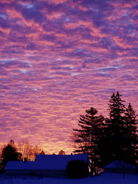 winter sunrise, Ontario