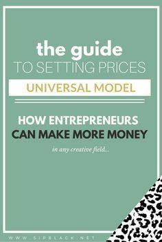 Paying Yourself When You Own a Small Business: Ultimate Guide  A universal revenue model for entrepreneurs and solopreneurs to figure out how to set their pricing, make more money every month and design their dream life.