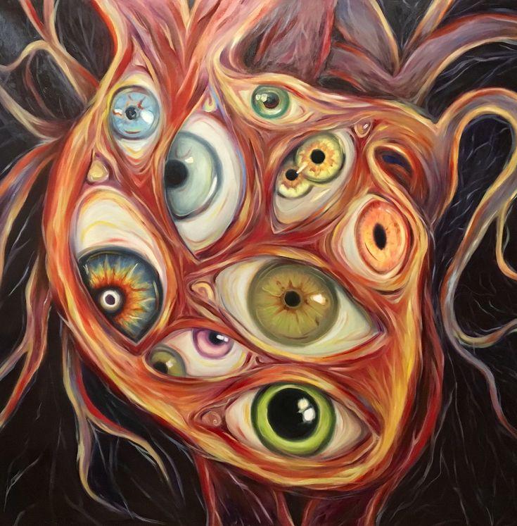 #рисунок #картина  #искусство  #art #painting #drawing #eyes #heart Painting by Yulia Malahova https://www.instagram.com/amita_art