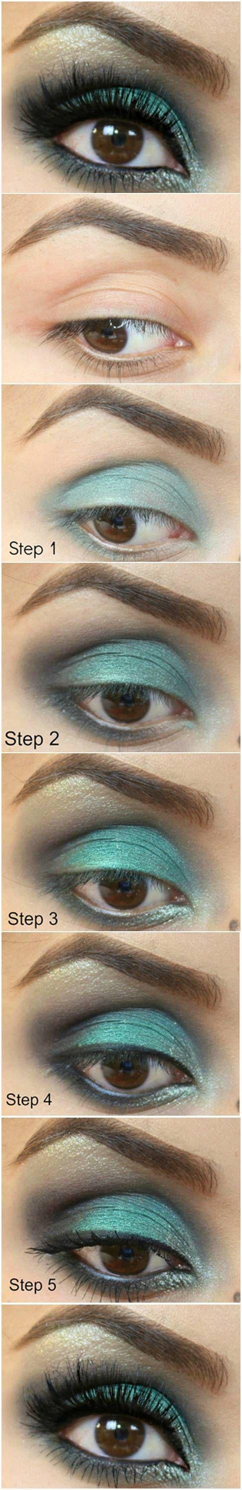 How To: Emerald Eye - great look on brown eyes.