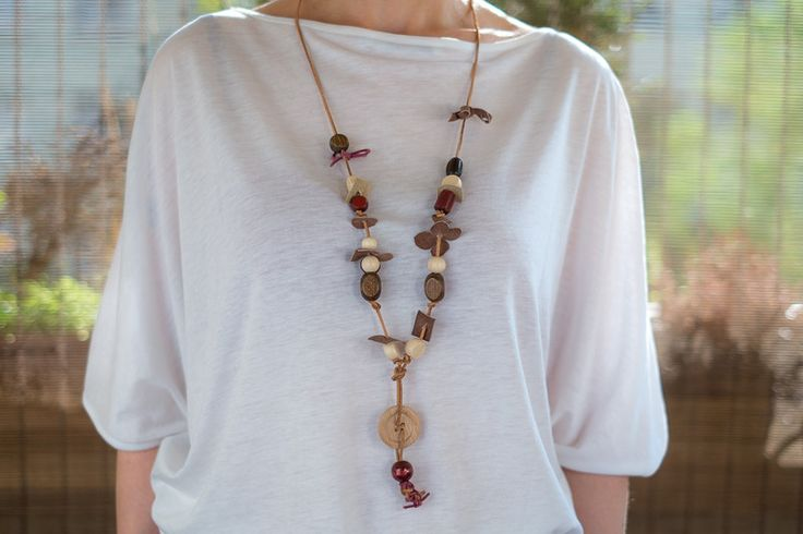 Bead Necklaces – Wooden beads – a unique product by AB-art-studio on DaWanda