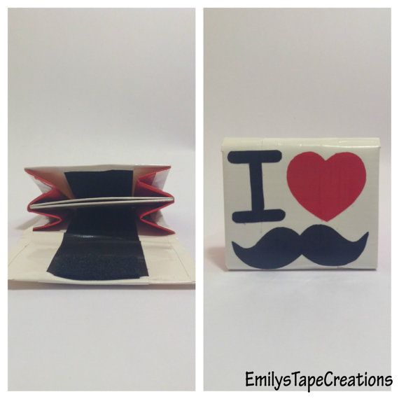 White Red and Black Duct Tape I Heart by EmilysTapeCreations, $4.00