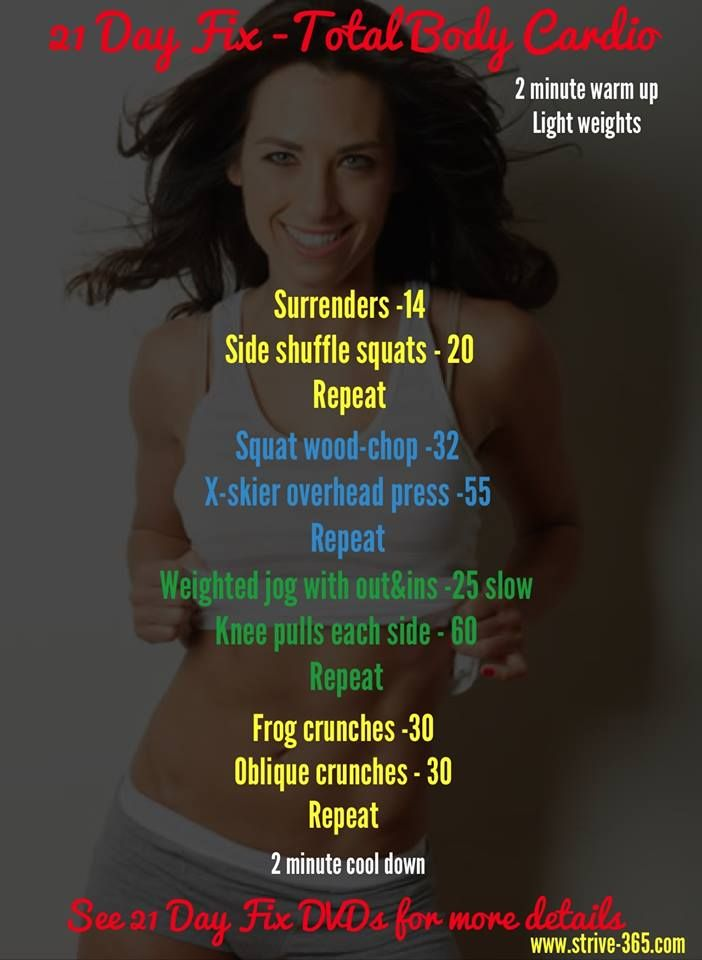 21 Day fix - Full Body Cardio. Follow STRIVE 365 on Facebook: https://www.facebook.com/strive.365.wellness or check out our website at www.strive-365.com