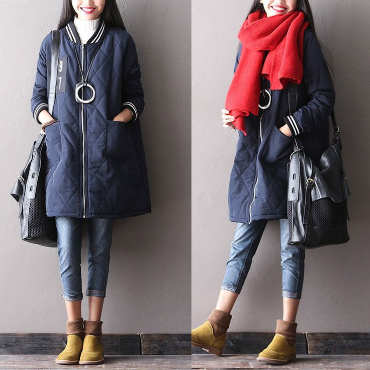 Women's winter loose padded coat - Tkdress  - 2