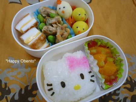 Japanese box lunch ::: HELLO KITTY