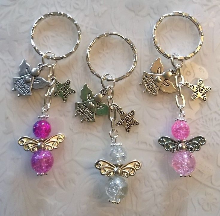 Guardian angels keyring~glass beaded handmade angel~angels watching over me gift  Discover our lovely collection of jewelry http://www.lissomecollection.co.uk/Accessories