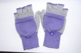 Fingerless Gloves/Glittens Yarn Purply pair - Lorna Laces Shepherd Sport 100% superwash wool   200 yards, 70g Muticoloured - cheap acrylic DK in whatever colour combinations you wish or any other DK   Needles Set of 5 plus spare needles to hold stitches not being worked (or use a…