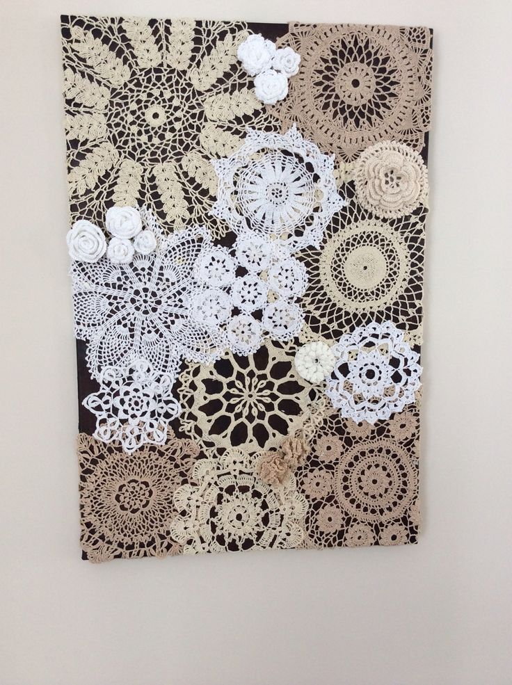 My own doily canvas, inspired by one I saw on Pinterest