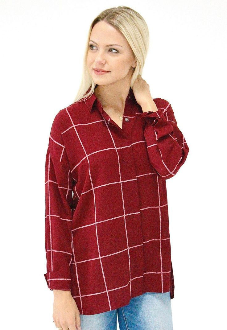 Oversize Red Checkered Shirt