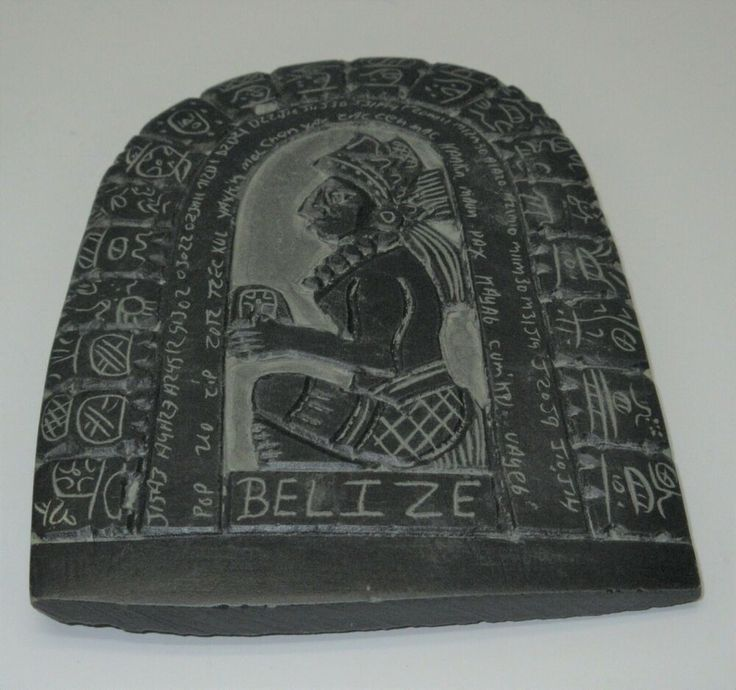 Authentic mayan calendar slate art hand carved plaque from