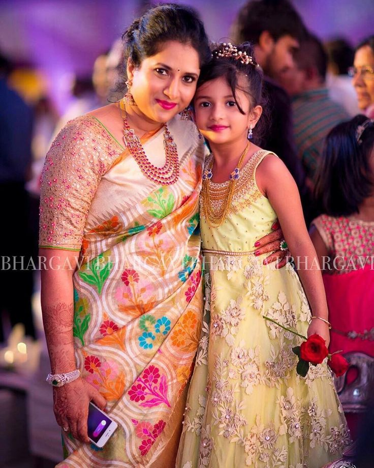 It was a pure joy designing outfits for this pretty mother-daughter duo #clientdiaries #motheranddaughter #pretty #indianwear #sareelove #handembroidery #detials #beautifulpeople #indiandressing #customized #bhargavikunam #bhargavistudio