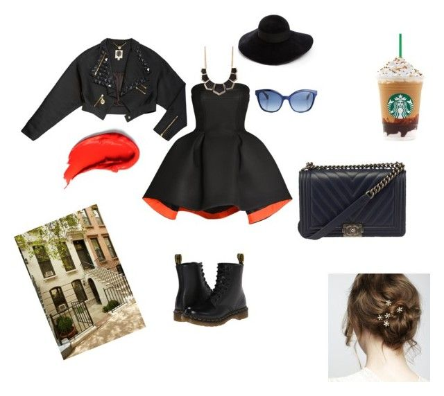 """NY"" by pchela on Polyvore featuring мода, Parlor, Dr. Martens, Eugenia Kim, Fendi и Charlotte Russe"