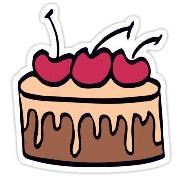 Cake with chocolate and cherry.  by kakapostudio