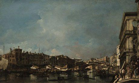 VENICE, A VIEW OF THE RIALTO BRIDGE, LOOKING NORTH, FROM THE FONDAMENTA DEL CARBON