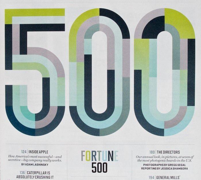 Fortune Magazine, n 500. Michael Myers, jug;o un papel muy importante en el diseño de esta edición.