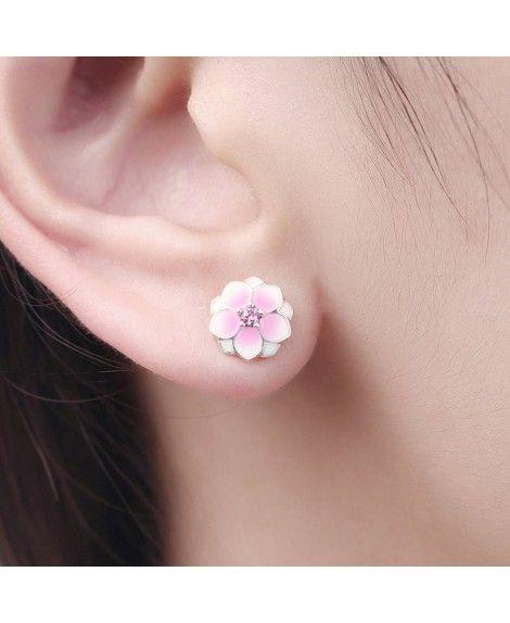 c872fdee6 18K White-Gold Plated Snowflake Cubic Zirconia Drop Dangle Earrings - Magnolia  Flowers