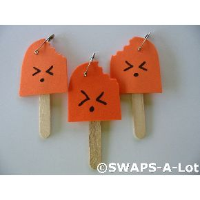 Popsicle swaps! These are angry popsicles, but they could be happy or faceless.
