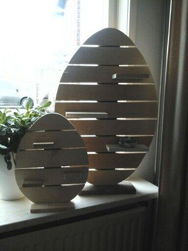 Paaseieren van pallethout