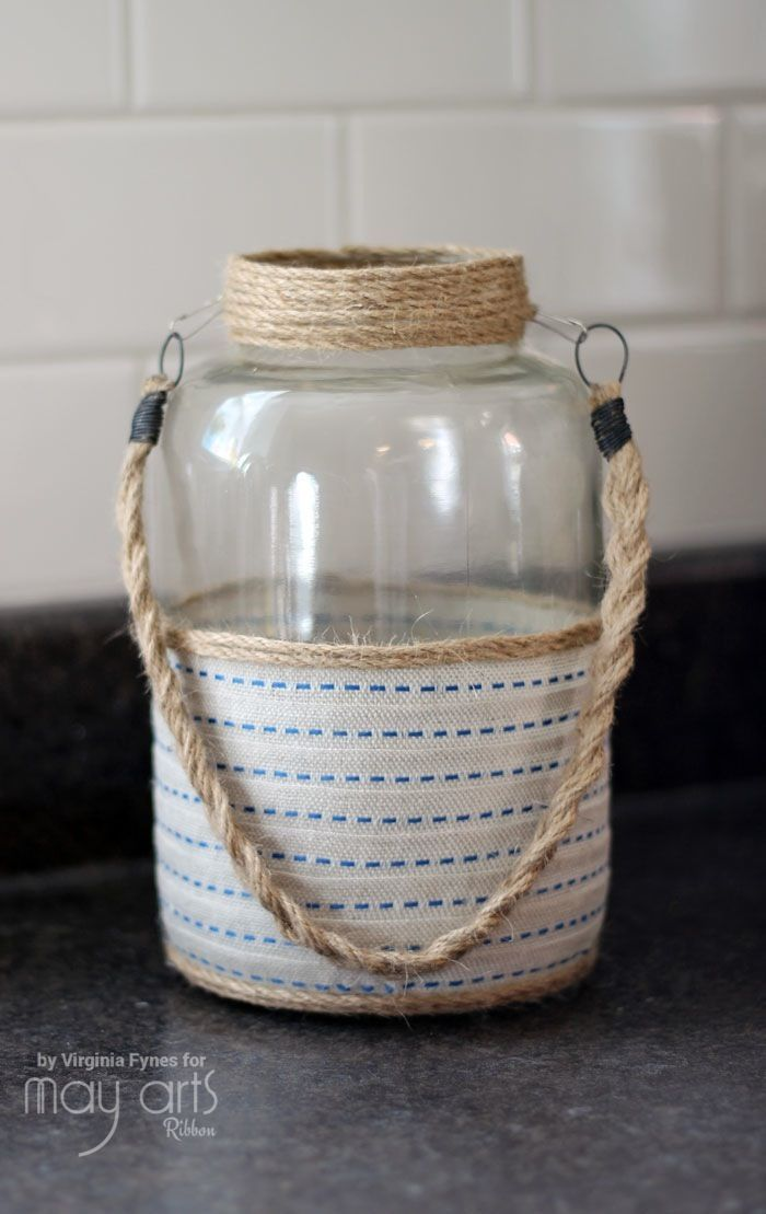 Upcycled Home Decor - Altered Jar