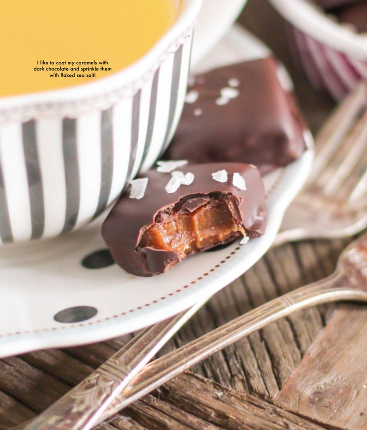 Healthy Homemade Chewy Caramels coated in Dark Chocolate and sprinkled with  Flaked Sea Salt! From the Naughty or Nice Cookbook: The ULTIMATE Healthy  Dessert ...
