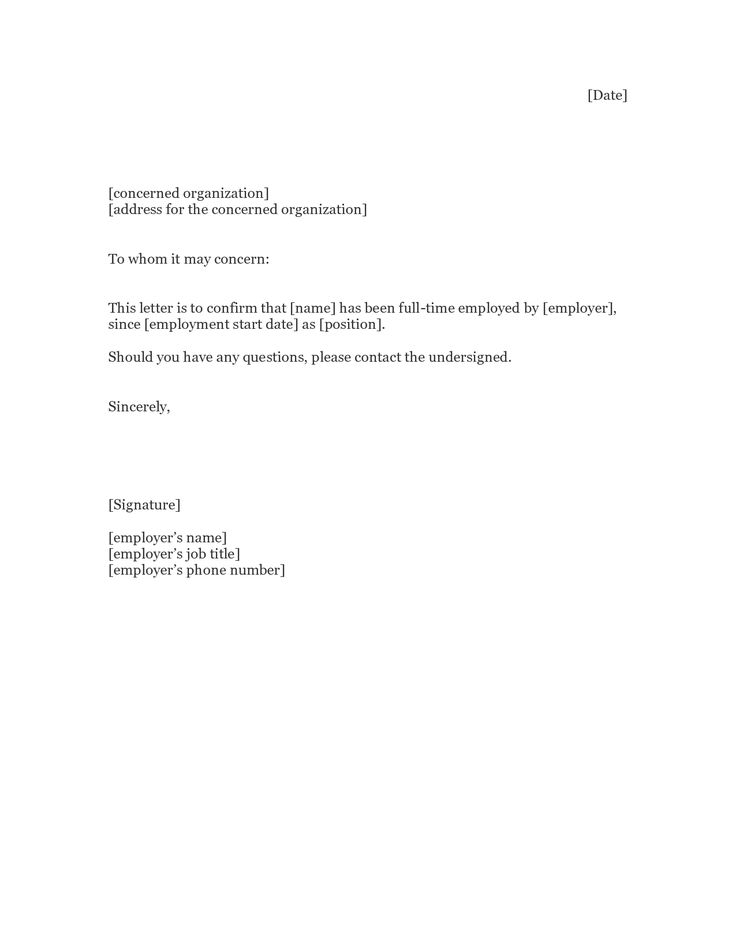 Awesome Employment Letter Templates Within Employment Letter Sample