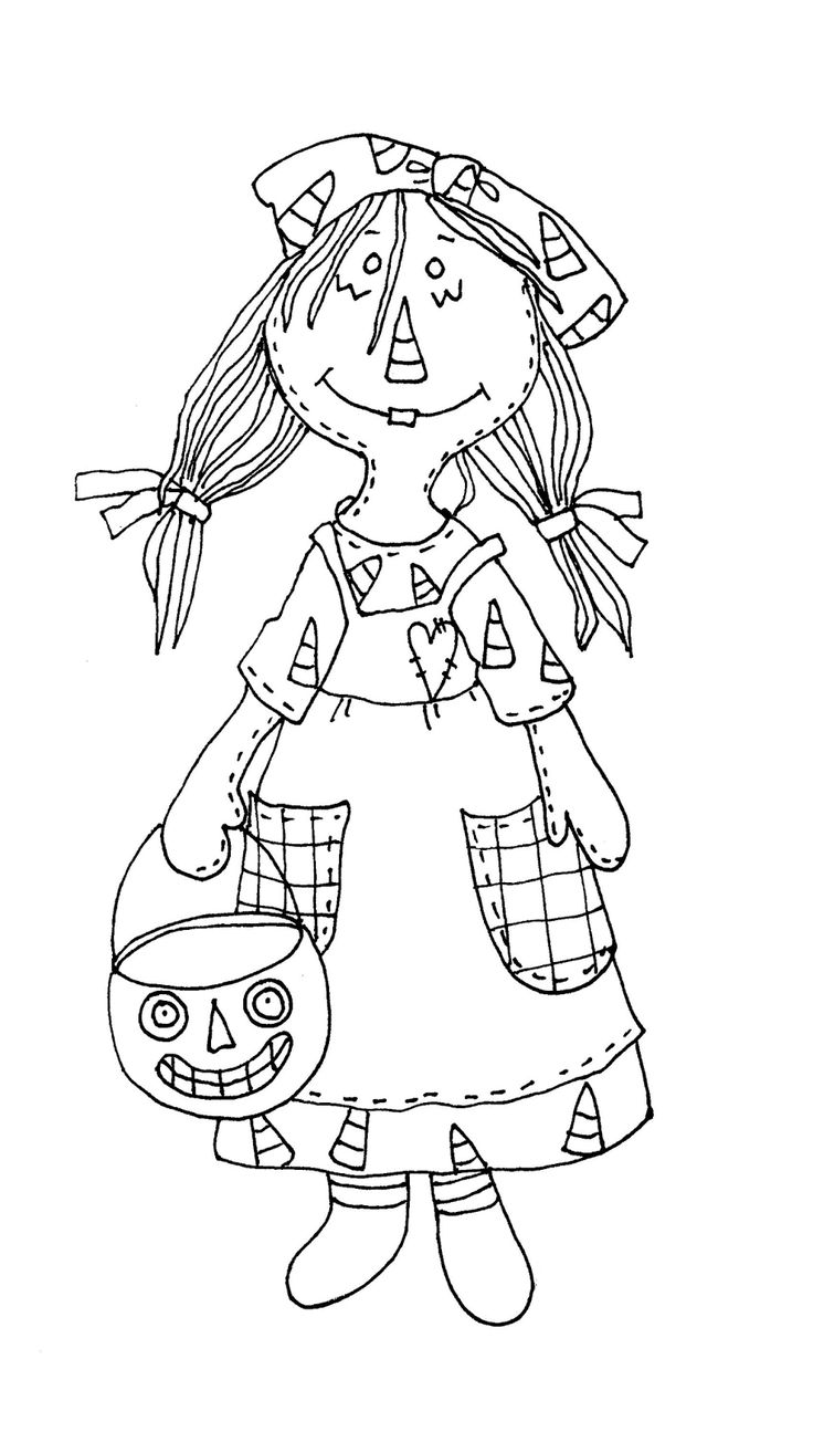 coloring pages and more com | Free Dearie Dolls Digi Stamps: Primitive Halloween Raggedy ...