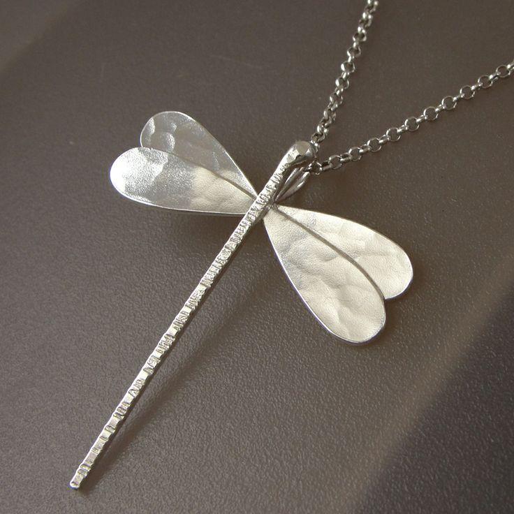 Emmanuela.gr - Handmade Jewelry - Sterling Silver Dragonfly Pendant.