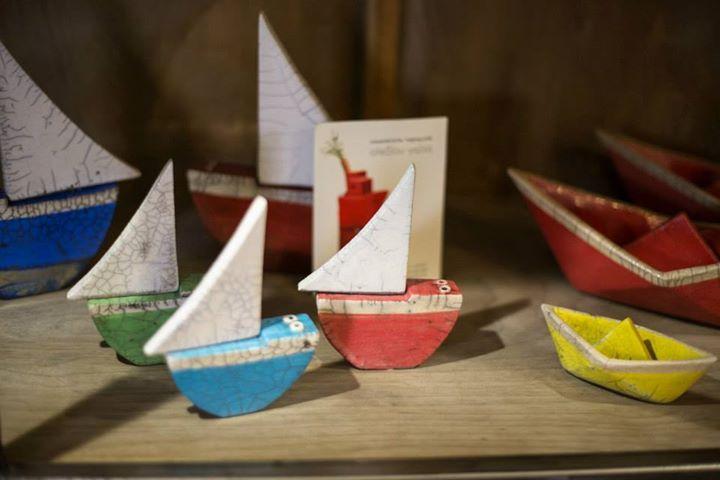 Raku sailboats
