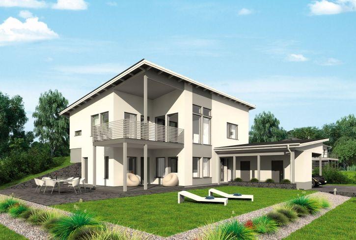 Moderni ja tyylikäs – Veikko: 155 + 56 m², 5 makuuhuonetta, rinnetalo