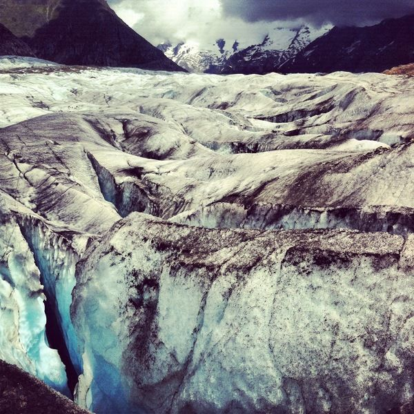 suisse Failles et crevasses Glacier d'Aletsch Valais