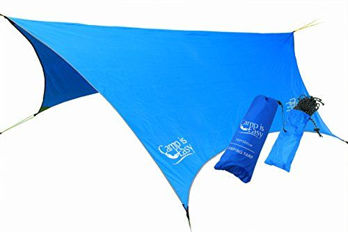 Camping Tent Accessories - Waterproof Rip Resistant Camping Tarp For Any weather Perfect Tent cover Or Hammock Rain Fly Use For Shelter Or Sunshade Ultralight And Portable Nylon Fabric Great For Hiking Backpacking  Travel * Click image to review more details.