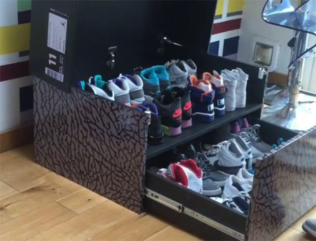 Awesome Sneaker Storage Solution Inspired by Air Jordan 3 Box - SneakerNews.com