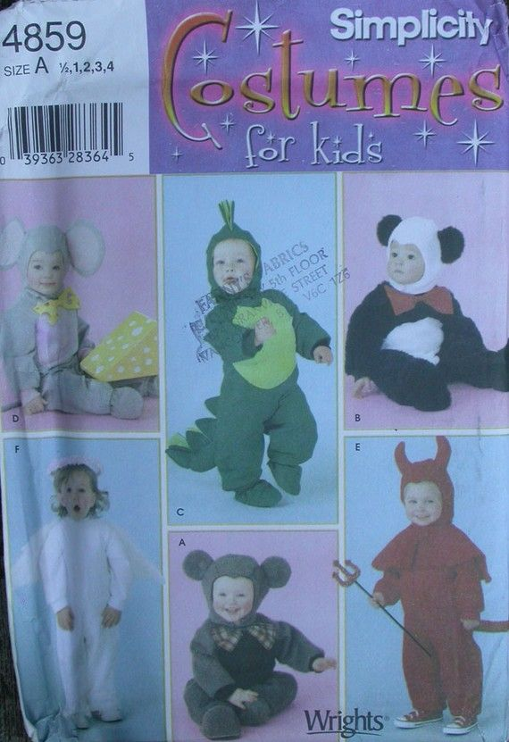 HALLOWEEN COSTUME PATTERN SIMPLICITY 4859 KIDS by TheHowlingHag, $4.95