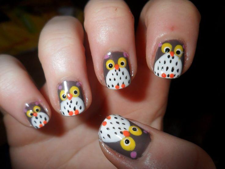 Cute+Nail+Designs | Cute Nails Concepts : Cute Nail Design In Pretty Owl - Best 25+ Owl Nail Designs Ideas On Pinterest Owl Nail Art, Owl