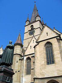 Sibiu, ROMANIA - Evangelical Cathedral - Biserica Evanghelica