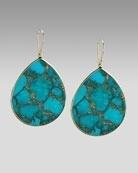 Teardrop Turquoise earrings